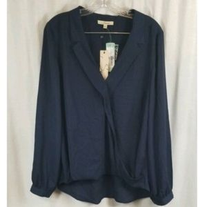 Stitch Fix Serein Navy Blue Blouse Top L
